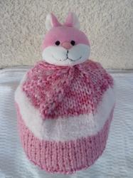 bonnet avec figurine amovible lapin